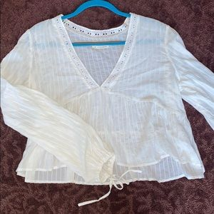 Urban outfitters white blouse